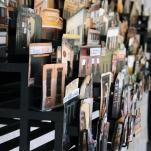 Detalle lateral de ESPACIO EN CONSTRUCCIÓN 2011. Collage tridimensional de fotografías de México 300cm x 60 cm x 60 cm. Colección permanente centro de las artes de San Luis Potosí