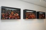 Montaje de NOCTURNO 2011. collage tridimensional de fotografías. caja de luz. 1 metro de largo x 60 cm de alto x 25 cm de volumen.