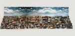 OBRA EN ALGUN LUGAR 2012. Collage tridimensional de fotografías, 3 metros de largo x 1 metro de alto x 60 cm de volumen aprox.